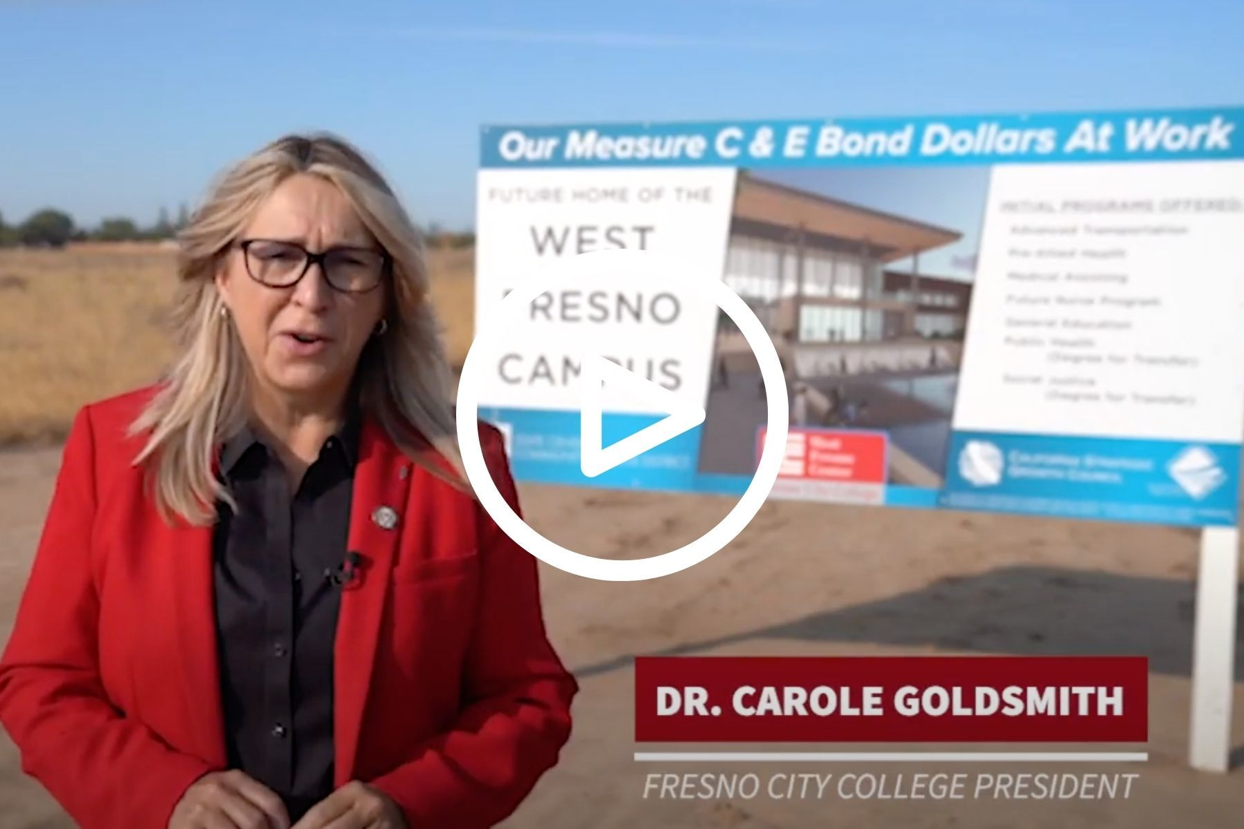 Image is of thumbnail for West Fresno Campus video