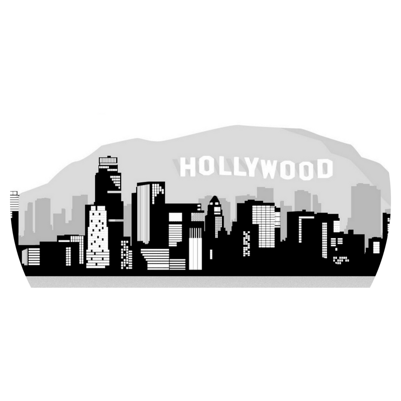 Hollywood sign animation