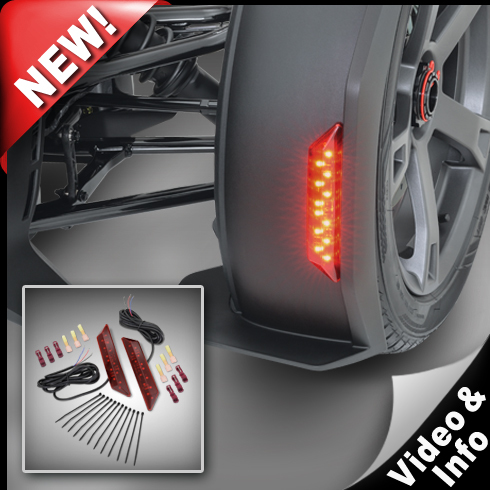 Red LED Front Fender Marker Lights For Ryker