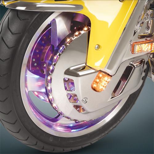 LED Lighted Chrome Rotor cover For GL1800