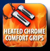 Heated Chrome Comfort Grips