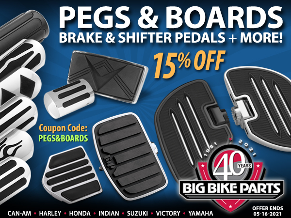 15% Off Foot Pegs And Boards Products
