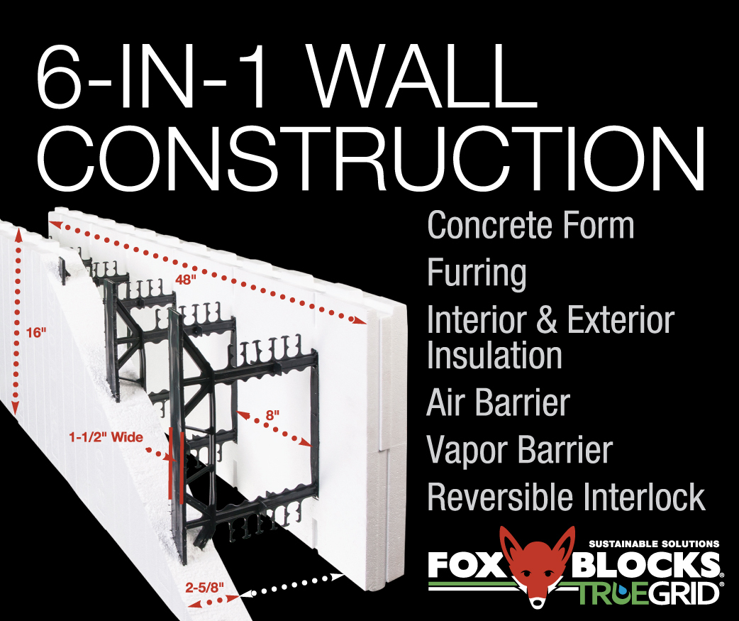 6 in 1 wall construciton
