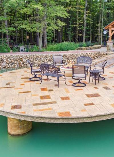 And now there are two: Dock featured in Concrete Decor inspires contractor to build his own