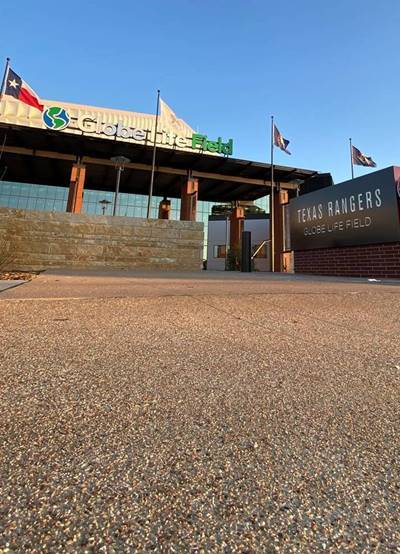 Concrete is a Hit at the New Texas Rangers Ballfield