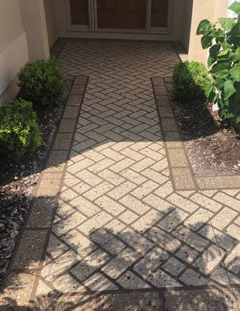Stenciled Concrete Walkways Make Great First Impressions
