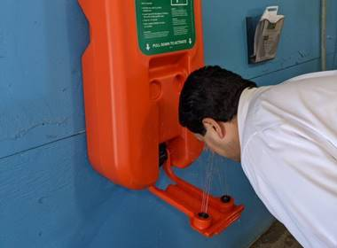 New Eyewash Station Gives Workers Immediate Water Flow In One Touch