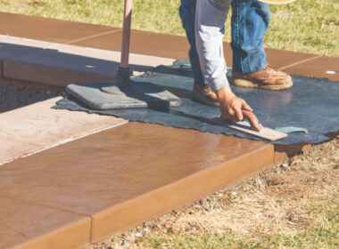 A New Efficient Way to add Antique Color to Stamped Concrete