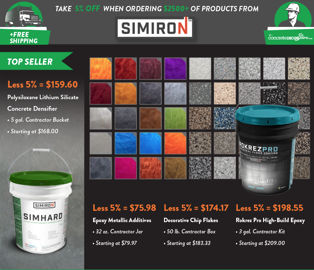 Simiron Epoxy Metallic Additives - Free Shipping