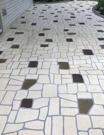 Perfecting patios: Cracks can disappear with the magic of stencils