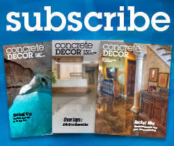 Subscribe to Concrete Decor Magazine