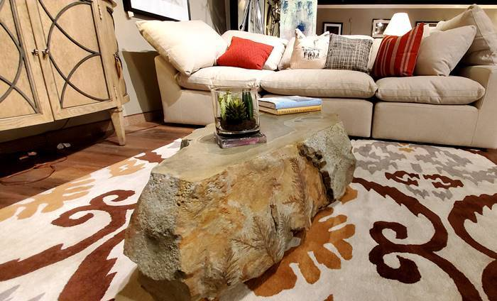 Polished Concrete Tops Off Coffee Table