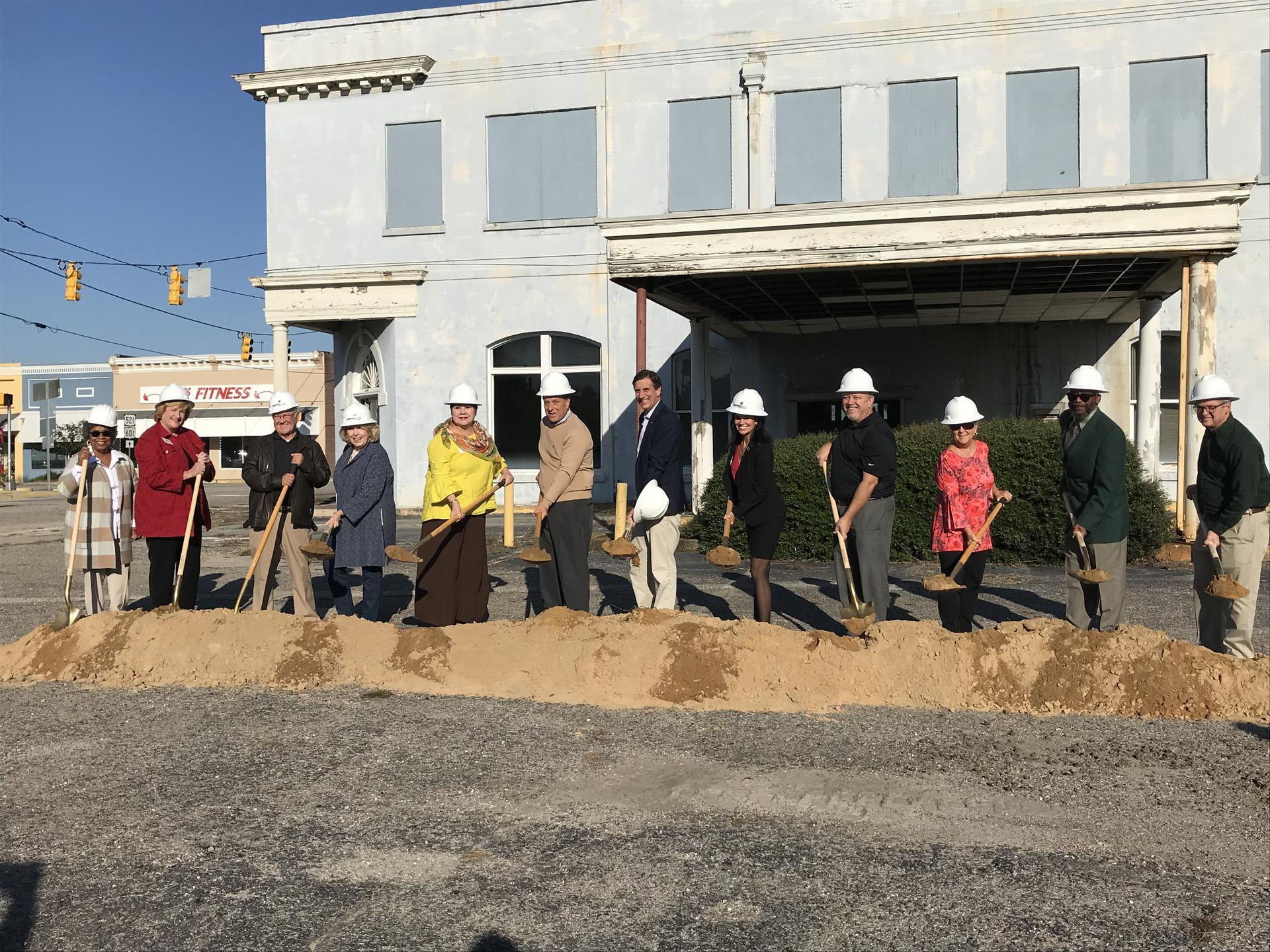 Groundbreaking ceremony in the Town of Kershaw