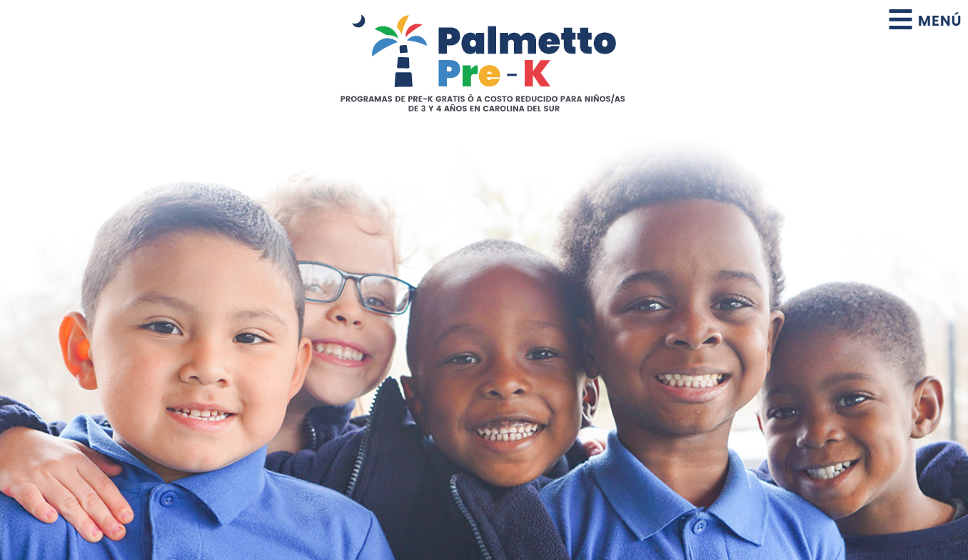Home page of PalmettoPreK.org