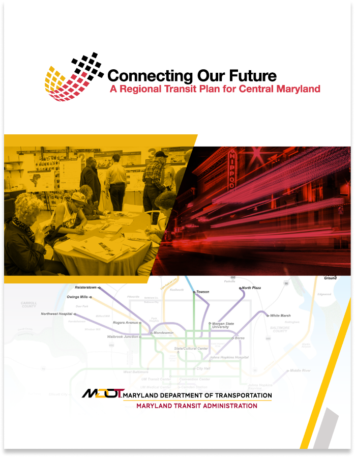 The cover of the regional transit plan
