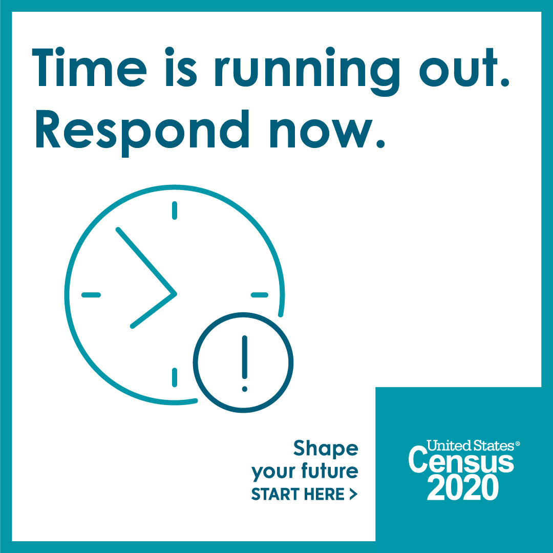 Time is running out. Respond now. Image of clock.