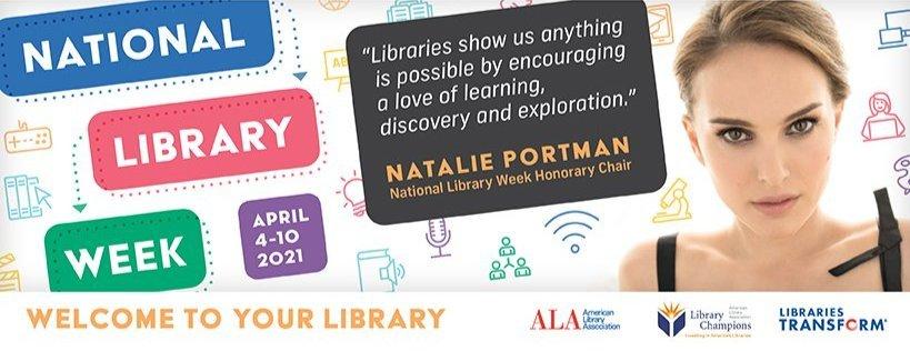 honorary National Library week chair Natalie Portman