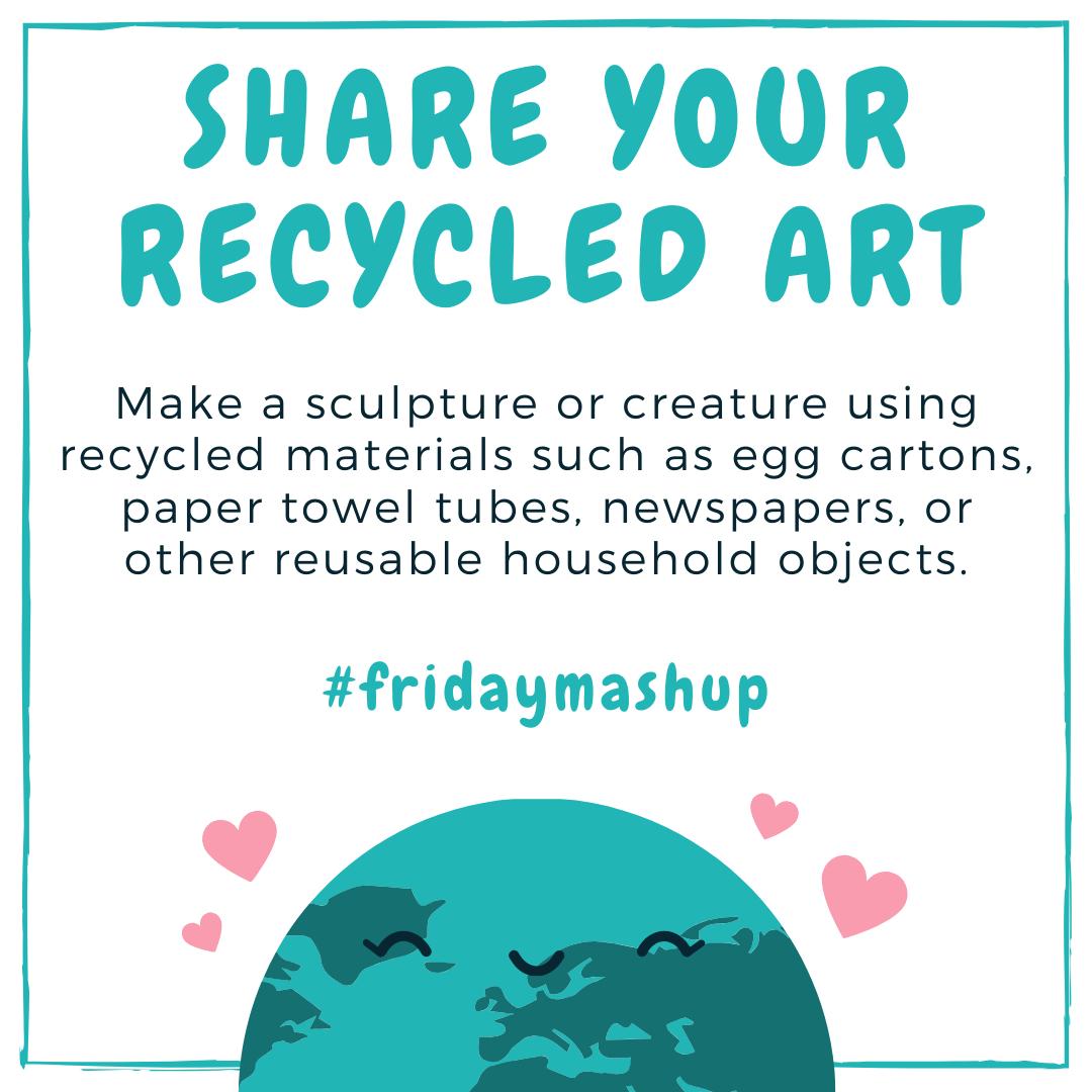 Image of friday mashup recycled art