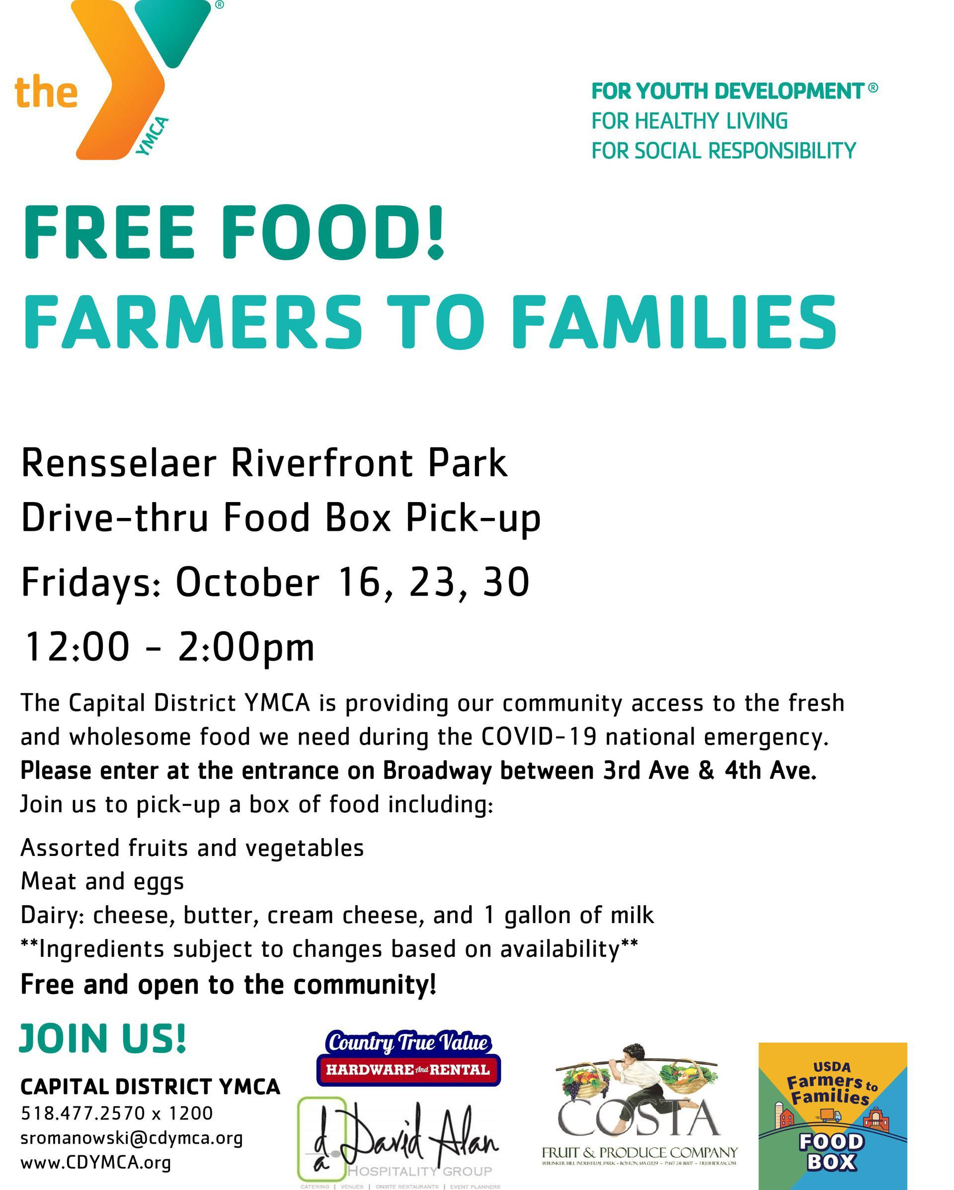 YMCA farmers to families flyer