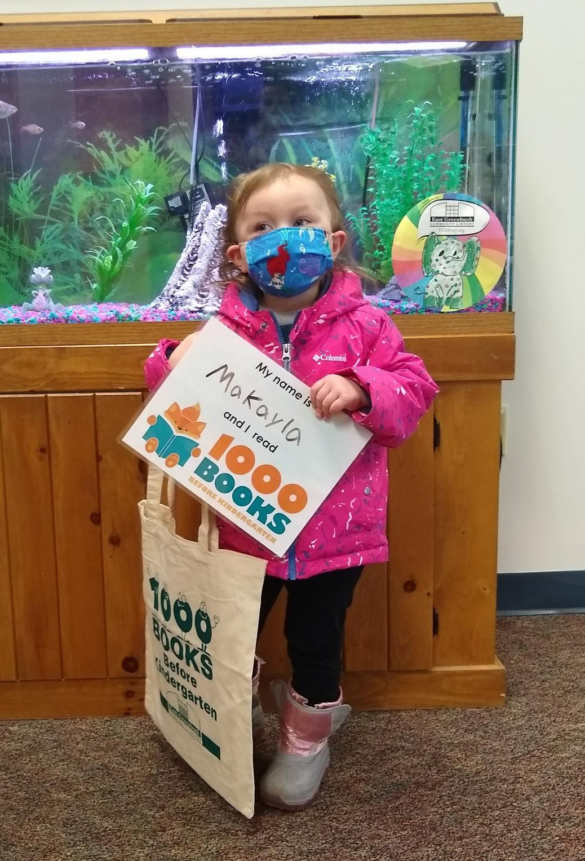 1000 books before kindergarten recipient