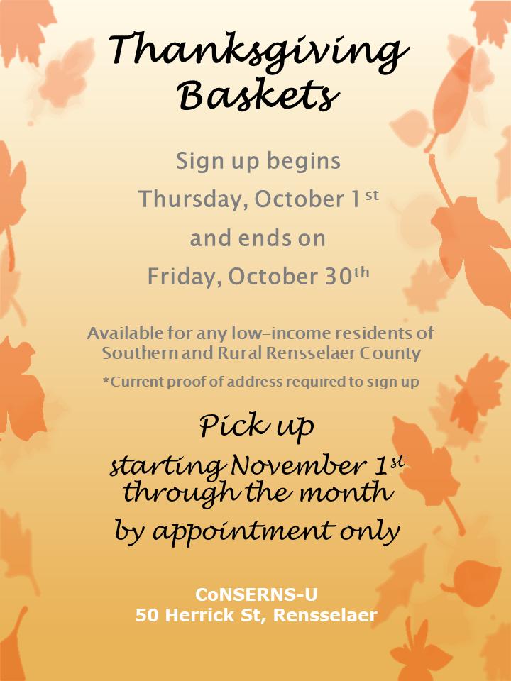 conserns-u thanksgiving baskets flyer