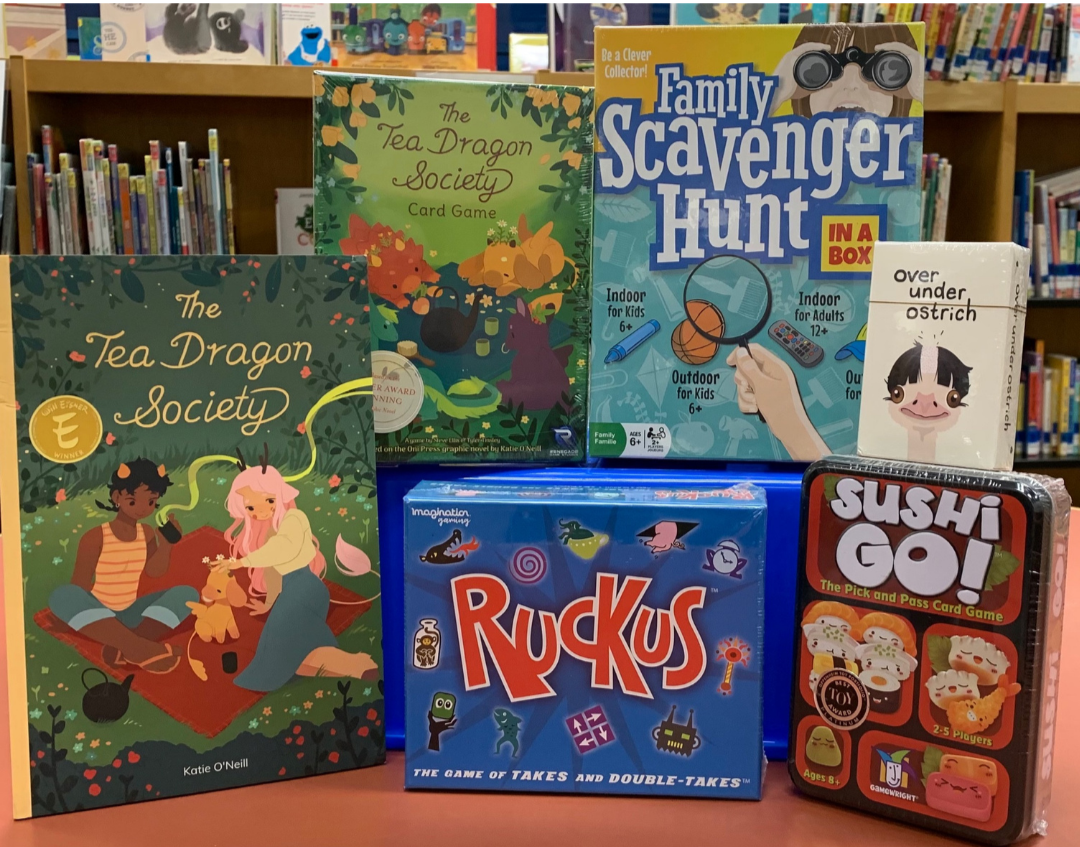 kids & teen winter reading challenge -family game night prize