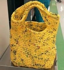 Image of crocheted plarn bag
