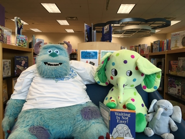 Charlie with sully at library
