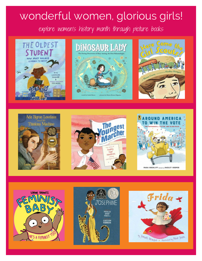 image of women's history month book picks