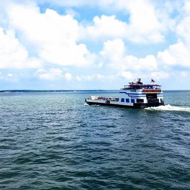 Miller Ferry departing Catawba to Put-in-Bay