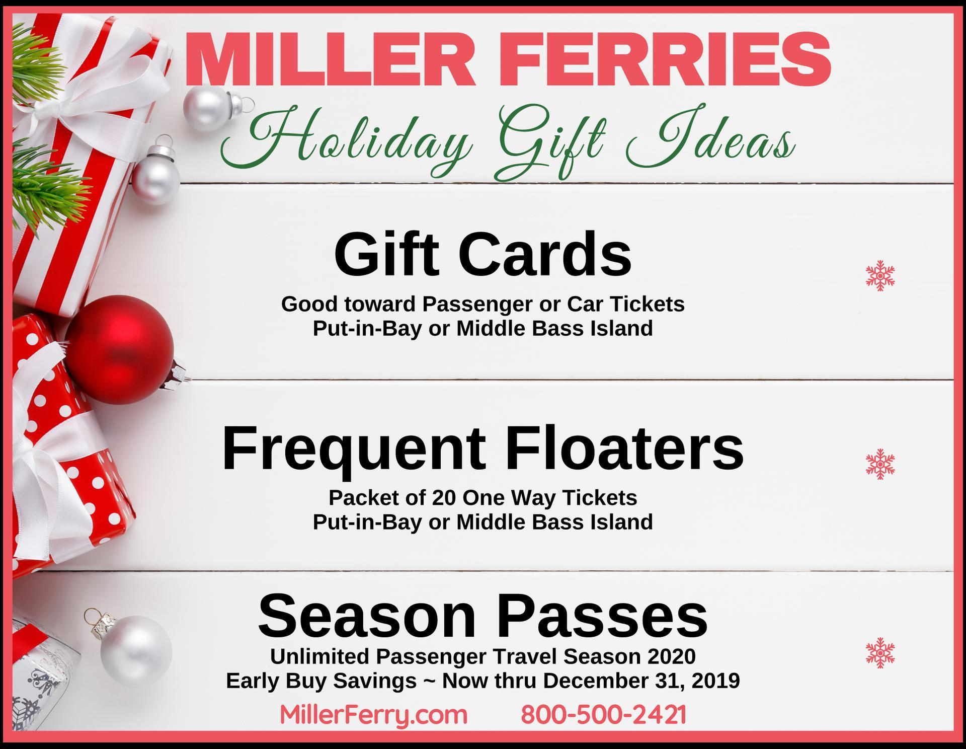 Miller Ferry Holiday Gift Ideas