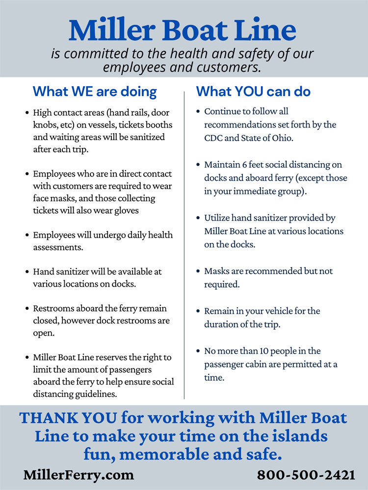 Miller Boat Line Guidelines for Responsible Reopen Ohio