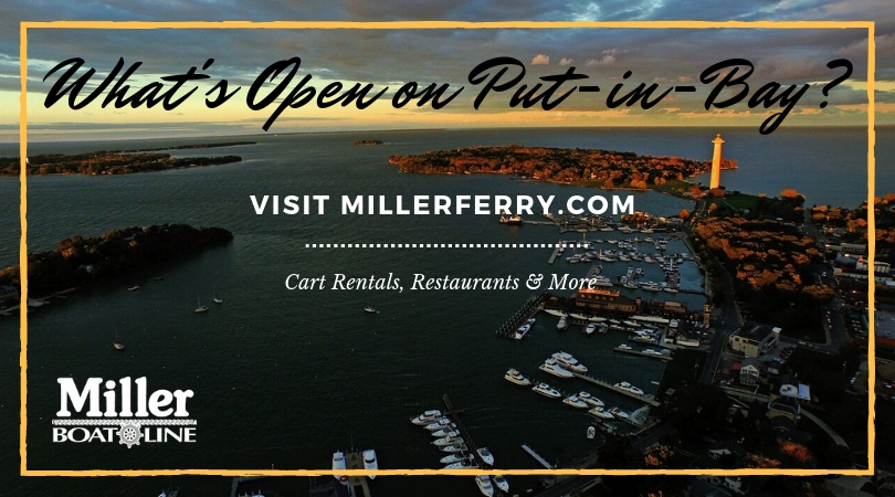 What's Open on Put-in-Bay in October